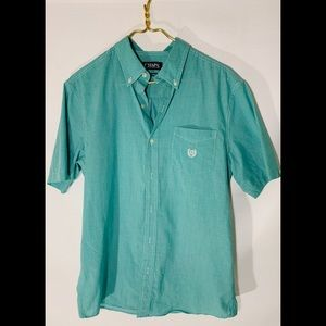 Men's CHAPS easy care button up collared shirt Med